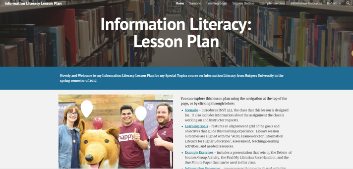 featured image information literacy lesson plan